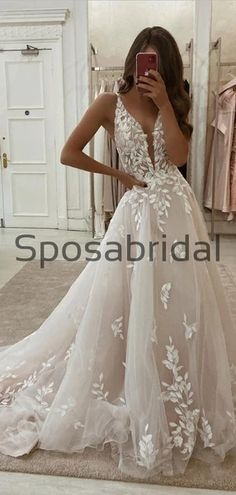 A-line Lace Vintage Tulle Vintage Wedding Dresses, Prom Dresses – SposaBridal Rustic Wedding Dresses, Bridal Dresses, Wedding Gowns, Prom Dresses, Dress Out, Lace Dress, Expensive Dresses, Bride And Groom Pictures, Princess Wedding