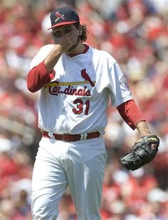 May 13, 2012. Lance Lynn was the starting pitcher in Sunday's contest versus the Braves. The Cards lost 7-4.