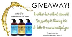 Agape Love Designs: Pura D'or Organic Anti-Hair Loss Therapy GIVEAWAY