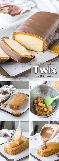 Easy to make delicious Twix cake