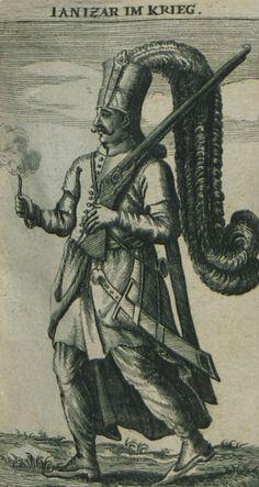 Janissary in war costume. - BUSBECQ, Ogier Ghiselin de -  1664