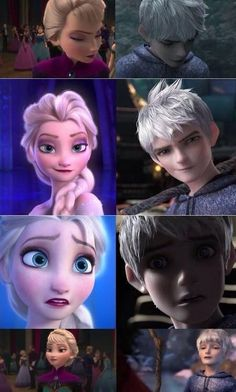 Jack and Elsa's facial expressions. Not completely RotBTD, but similar