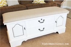 how to paint and reupholster a cedar chest (4)