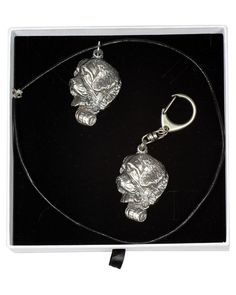 Saint Bernard, Dog Keyring and Necklace in Casket, Elegance Set, Limited Edition, ArtDog St Bernard Dogs, New Saints, Casket, Jewelry Sets, Dog Lovers, Statue, Chain, Elegant, Silver