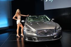 Elle Macpherson, The Body, and the Jaguar xJ, aluminium body.