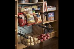 We have so many beautiful options for your pantry ! Our supplier is #closetmaid and we have SO many different colour selections for you! No space is too big or small! We are located in the GTA. Contact us today for your FREE in-home design consultation! #mylivingorganized #customclosets #closetbuilders #organization #perfectpantries #custompantries