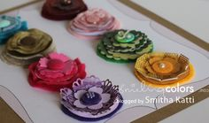 paper & felt flowers tutorial. Lots of creative variety and uses! by leanna