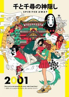 """Redid my Spirited Away piece! Poster Art, Poster Prints, Aesthetic Art, Aesthetic Anime, Art Illustration Vintage, Art Studio Ghibli, Studio Ghibli Poster, Cartoon Mignon, Desenhos Gravity Falls"
