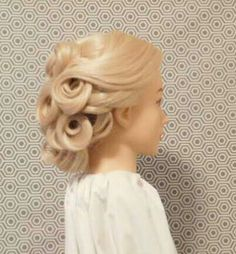 Hot look, but no heat used to complete this beautiful updo hairstyle. Great for medium length and long hair.