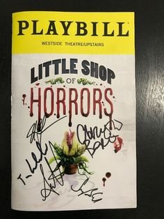 Little Shop Of Horrors 2019 Broadway Playbill Jonathan Groff & Cast Autographed Movie Posters For Sale, Sale Poster, Broadway Playbill, Little Shop Of Horrors, Theater, It Cast, Musicals, Trends, Shopping