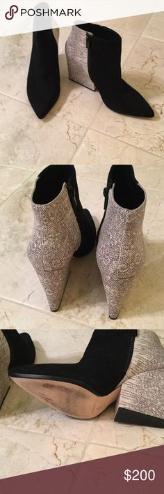 Shoes loeffler Randall Black suede and leather.. Worn only once, excellent condition. Side zipper. Loeffler Randall Shoes Ankle Boots & Booties