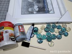 Madigan Made: Beachy glass gem wall art {the water's edge}