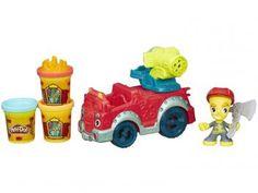Massinha Play-Doh Town Carro de Bombeiro - Hasbro com Acessórios