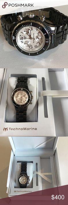e401a1bf895 Woman s TechnoMarine Black Ceramic Petite Watch Boutique