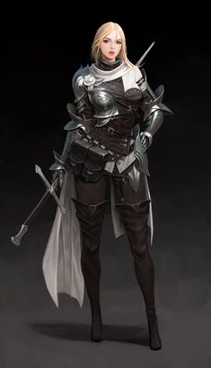 ArtStation - practice, hyeonsick choi Female Character Concept, Game Character Design, Fantasy Character Design, Character Design Inspiration, Character Art, Dungeons And Dragons Characters, Dnd Characters, Fantasy Characters, Female Characters