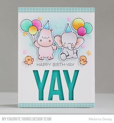 Hi everyone ! Yay For You Card Kit  from My Favorite Things  is now available at MFT Store! I love this kit because it's so versatile so I...
