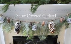 Snow Covered Garland Holiday Decor #fabulouslyfestive - Made in a Day