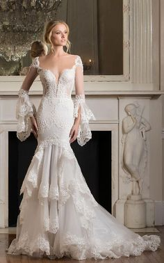 Featured Dress: Pnina Tornai; Wedding dress idea.
