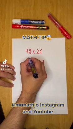 Mental Math Tricks, Cool Math Tricks, Math Strategies, Math Resources, Math Activities, Math For Kids, Fun Math, Multiplication, Math Made Easy