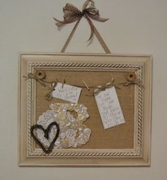 DIY: Guest Room Message Board Craft Tutorial...I love this idea, it's so welcoming!