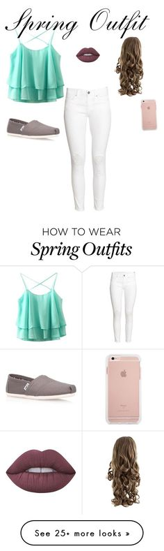 """""""Spring Outfit"""" by thefashioncrab on Polyvore featuring H&M, TOMS and Lime Crime"""