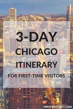 The perfect 3-day Chicago itinerary for first-time visitors. This guide covers the top attractions in the city, including the Cloud Gate in Millennium Park (aka the bean)