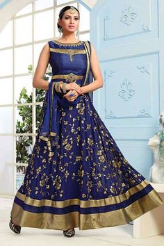 Have you shopped for your Eid outfit yet? If not then this is the perfect festive Aishwarya Design Studio Anarkali Suit outfit. Buy Anarkali Suit online - http://www.aishwaryadesignstudio.com/alluring-blue-anarkali-with-embroidery