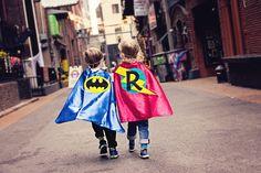 Superhero Photoshoot, downtown, boys, best friends, batman, graffiti, capes, masks, www.thewhimsywillow.com
