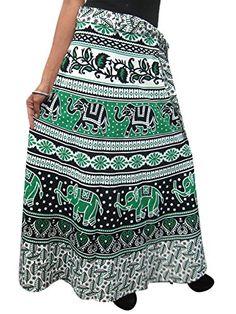 Skirt Fashion, Fashion Outfits, Sarong Wrap, Wrap Around Skirt, Summer Skirts, Long Skirts, Gypsy Skirt, Elephant Print, Wrap Dress