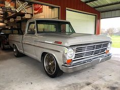 The completed truck. 1968 F100 in Folkstone Gray! #kcspaintshop