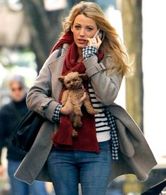 Blake Lively carries her precious pooch in NYC