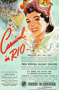 Ad for cruise to Rio De Janero