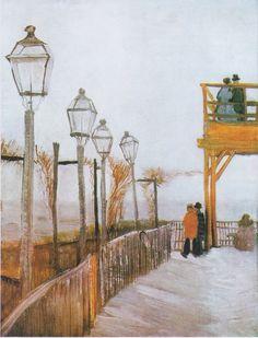 Van Gogh, Montmartre al mulino superiore (1886) - Google Search