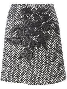 envelope knit skirt