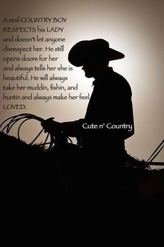 Real Country boy #realcountryboy #countryboy #cowboy #country For more Cute n' Country visit: www.cutencountry.com and www.facebook.com/cuteandcountry