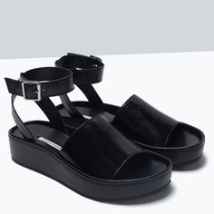 Image 4 of ANKLE STRAP SANDALS from Zara