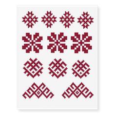Shop Ancient Latvian symbols Sun Moon Star Jumis Temporary Tattoos created by Ilze_Lucero_Designs. Cross Stitch Tattoo, Embroidery Tattoo, Note Tattoo, Sun Moon Stars, Baby Oil, Pretty Patterns, Abstract Pattern, Cross Stitch Patterns, Tattoo Designs
