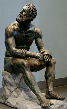 Bronze wrestler