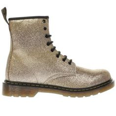 cfaab1b980ac2 Dr Martens Gold Delaney Glitter Boot Girls Youth Bottines Chelsea Pour  Filles