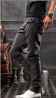 NWT Mens Stylish Fashion Casual Straight Pants Trousers