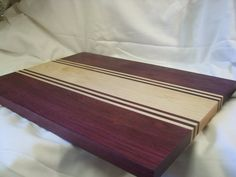 This is truly beautiful!! Photos don't do it justice!! -Maple and Purple Heart Cutting Board by ComradeNorgren on Etsy, $75.00