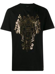Billionaire Printed Crest T-shirt - Farfetch Billionaire, Print Logo, Size Clothing, Women Wear, Mens Fashion, Shopping, Casual, Prints, Cotton