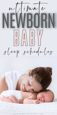 Newborn baby sleep schedules for the early weeks! Daily routines for your newborn baby for the first eight weeks after birth. A strict routine with a newborn may not be possible, but these sleep schedules give you a good idea of what baby is doing and when so you know how much sleep your newborn needs and when to put them down for a nap. Newborn Baby Tips, Newborn Needs, Baby Sleep Schedule, Sleeping Too Much, After Birth, Daily Routines, New Mums, Happy Baby, Baby Hacks