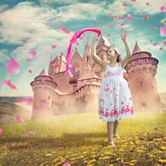 Kaleigh, Princess of Rose Castle by     Shawn Van Daele - Drawings by children with health conditions turned into photos by @ShawnVanDaele for a storybook filled with hope