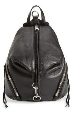 Free shipping and returns on Rebecca Minkoff 'Medium Julian' Backpack (Nordstrom Exclusive) at Nordstrom.com. Not too big, not too small, this version of the popular Julian backpack is just the right size for traveling uptown or farther afield. The signature clip-lock closure keeps your items secure, while the rich pebbled-leather construction, chunky zippers and trailing tassels are hallmark Rebecca Minkoff touches.