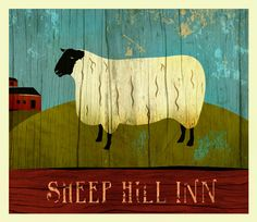 I love folk art paintings of sheep..thats all