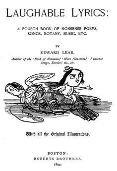 Edward Lear, 1894.