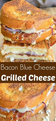 Peppered Bacon and Blue Grilled Cheese recipe. AMAZING grilled cheese that's packed with bacon, blue cheese, white cheddar, and black pepper flavors! Grill Sandwich, Grill Cheese Sandwich Recipes, Grilled Cheese Recipes, Grilled Sandwich Recipe, Jalapeno Burger, Blue Cheese Recipes, Blue Cheese Burgers, Queso Fundido, Saveur
