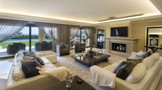 Stunning frontline beach family home within the Marbella Club - #beachfront #family #luxury #livingroom #MarbellaClub