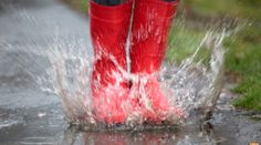 Rubber boots are jumping into a big puddle with splash - Stock Photo , Rain And Thunderstorms, Camping In The Rain, Seasons Activities, Vegan Boots, Traditional Doors, Friends Day, Tan Guys, Charts For Kids, Making Memories